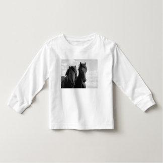 Two Friesian stallions. T Shirts