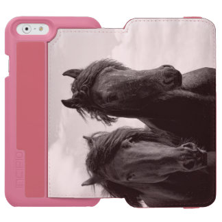 Two Friesian stallions. Incipio Watson™ iPhone 6 Wallet Case