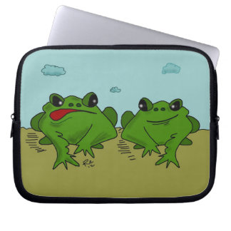 Two Frogs Color Cartoon for Laptop cover