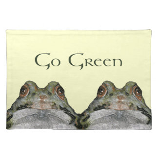 TWO FROGS: GO GREEN: Artwork: Environment Placemat