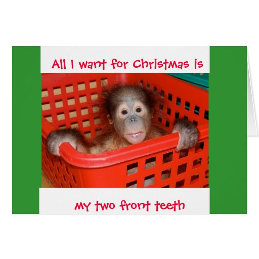 Two Front Teeth for Christmas Stationery Note Card