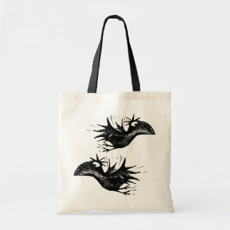 Two Funny Black Crows Tote Bag