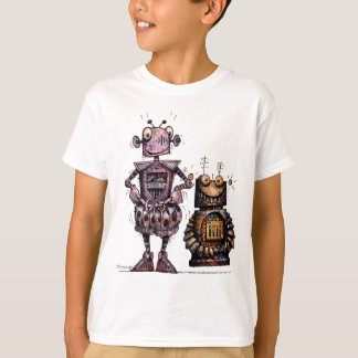 Two Funny Kid's Robots T-Shirt