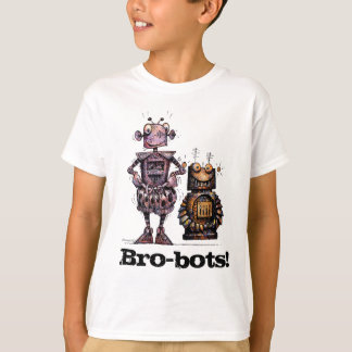 Two Funny Little Robots - Kid's Bro-Bots! T-Shirt