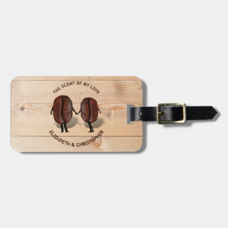 Two Funny Roasted Coffee Beans As Boy And Girl Bag Tag