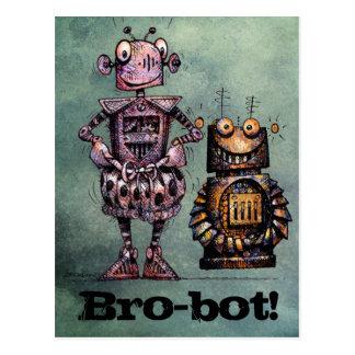 Two Funny Robots - Bro-Bot! Postcard