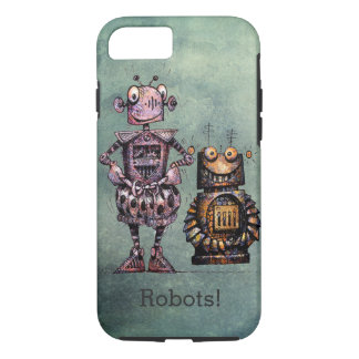 Two Funny Robots! iPhone 7 Case