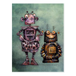 Two Funny Robots! Postcard