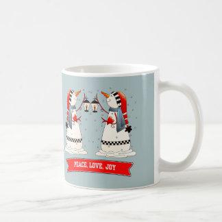 Two Funny Snowmen Christmas Gift Mugs