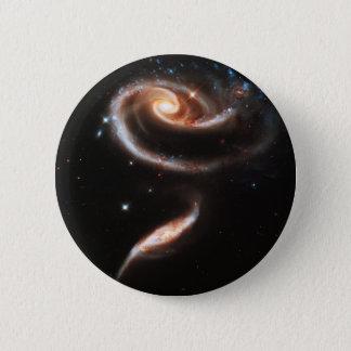 Two Galaxies Interacting Galaxy Nebula Stars Sun Pinback Button