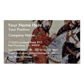 Two Galloping Horsemen By Irakischer Maler Um 1210 Business Card Templates