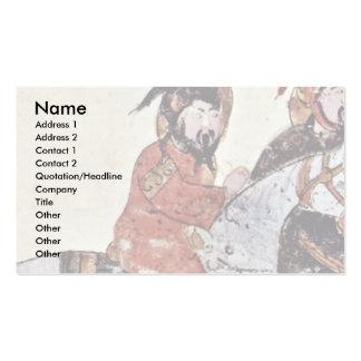 Two Galloping Horsemen By Irakischer Maler Um 1210 Business Cards