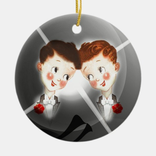 Two Gay Men Couple In Tuxedos Adorable Vintage Ceramic Ornamentcom