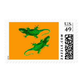 Two geckos stamps