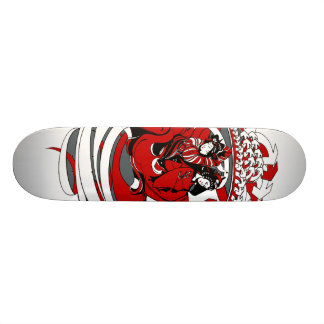 Two Geishas with Graphic Design Skateboard