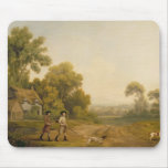 Two Gentlemen Going a Shooting (oil on canvas) Mousepads
