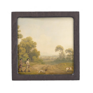 Two Gentlemen Going a Shooting (oil on canvas) Premium Gift Boxes
