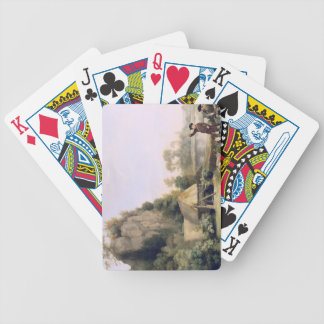 Two Gentlemen Going a Shooting, with a View of Cre Bicycle Playing Cards
