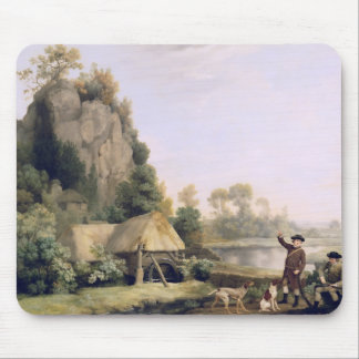 Two Gentlemen Going a Shooting, with a View of Cre Mouse Pad