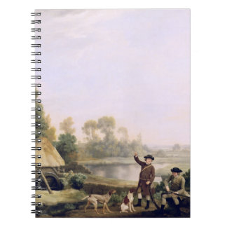 Two Gentlemen Going a Shooting, with a View of Cre Notebook