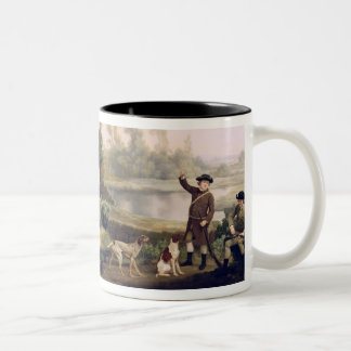 Two Gentlemen Going a Shooting, with a View of Cre Two-Tone Coffee Mug