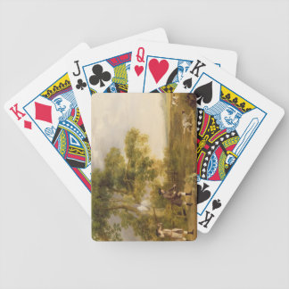 Two Gentlemen Shooting (oil on canvas) Bicycle Playing Cards