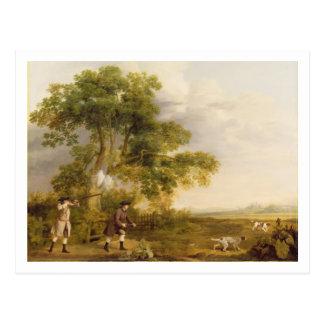 Two Gentlemen Shooting (oil on canvas) Postcard