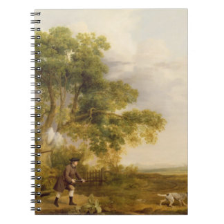 Two Gentlemen Shooting (oil on canvas) Spiral Note Books