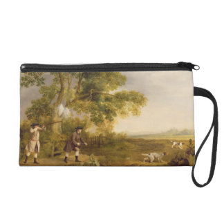 Two Gentlemen Shooting (oil on canvas) Wristlet Purse