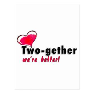 Two-gether somos mejores tarjetas postales
