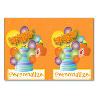 Two Gift Tags - Cute Party Clown. Table Cards
