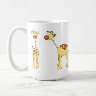 Two Giraffes. Cartoon Coffee Mug