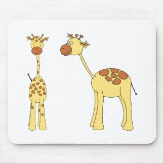 Two Giraffes. Cartoon Mouse Pad