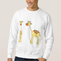 Two Giraffes. Cartoon Sweatshirt