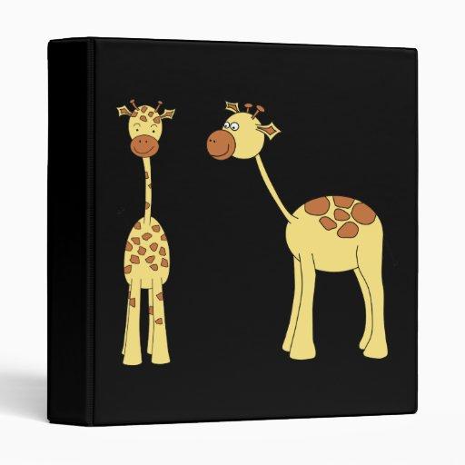 Two Giraffes. Cartoon Vinyl Binder