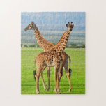 """Two Giraffes Jigsaw Puzzle<br><div class=""""desc"""">Two masai giraffes in Serengeti national park  &#169; and &#174; Bigstock&#174; - All Rights Reserved.</div>"""