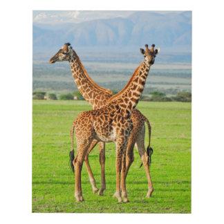 Two Giraffes Panel Wall Art