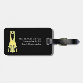 Two Giraffes With Love Heart Travel Bag Tag