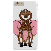 Two Giraffes With Necks Entwined And Love Heart Barely There iPhone 6 Plus Case