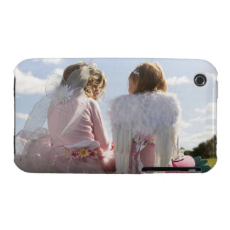 Two girls (7-9) dressed as angel and fairy iPhone 3 case