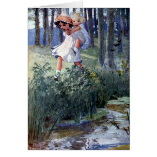 Two Girls and a Piggyback Ride, Card