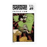 Two Girls - Art Nouveau - Jugendstil Stamps