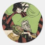 Two Girls - Art Nouveau - Jugendstil Sticker