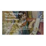 Two Girls At The Piano,  By Pierre-Auguste Renoir Business Card Templates