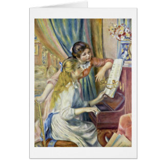 Two Girls At The Piano, By Pierre-Auguste Renoir Card