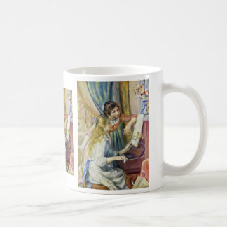 Two Girls At The Piano,  By Pierre-Auguste Renoir Coffee Mug