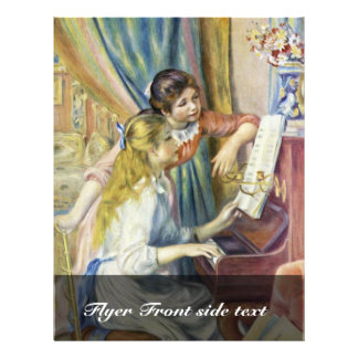 Two Girls At The Piano,  By Pierre-Auguste Renoir Flyer
