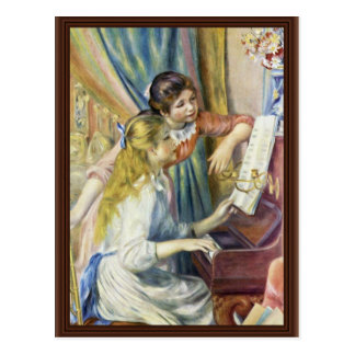 Two Girls At The Piano,  By Pierre-Auguste Renoir Postcard