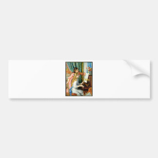 Two Girls at the Piano - Pierre Auguste Renoir Bumper Sticker