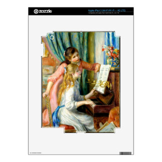 Two Girls at the Piano - Pierre Auguste Renoir Decals For iPad 3